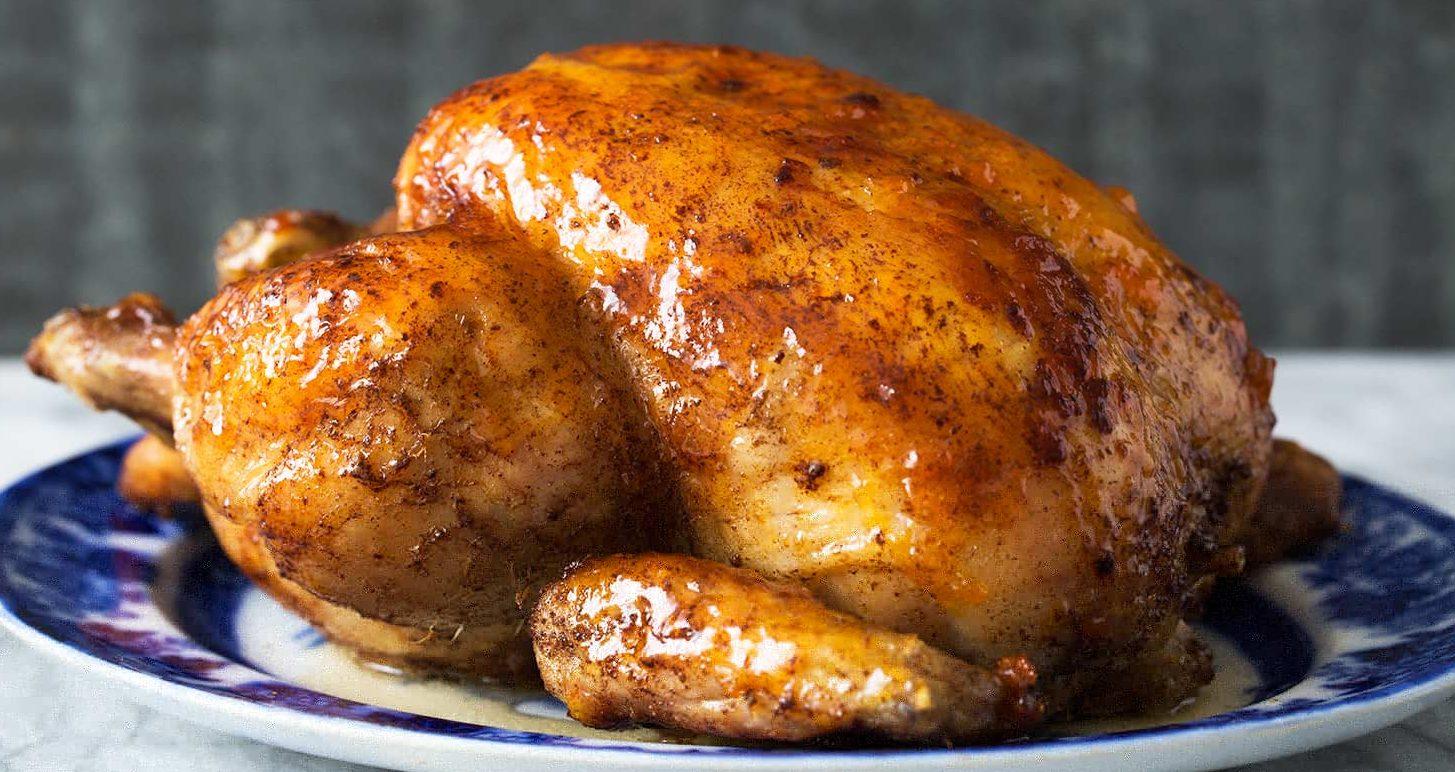 запеченная курица в духовке целиком фото