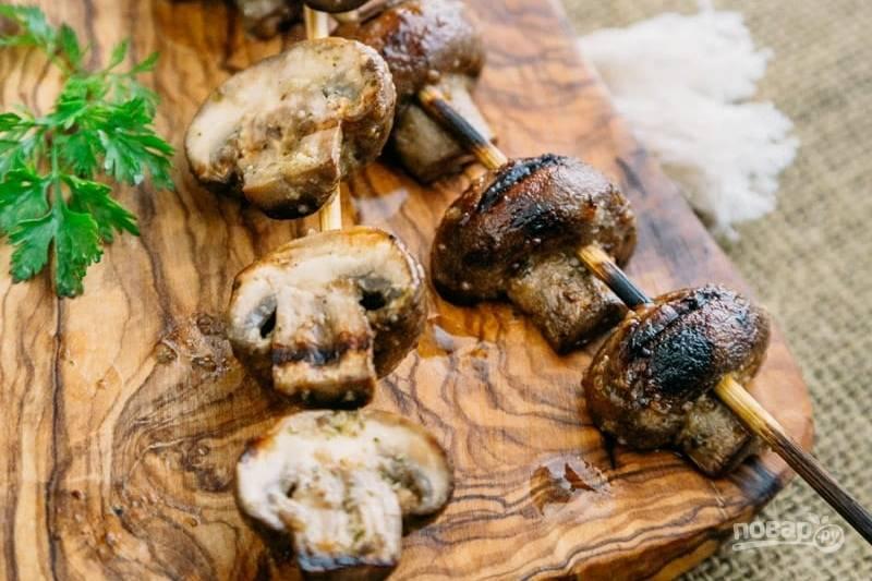 как мариновать грибы на шашлык