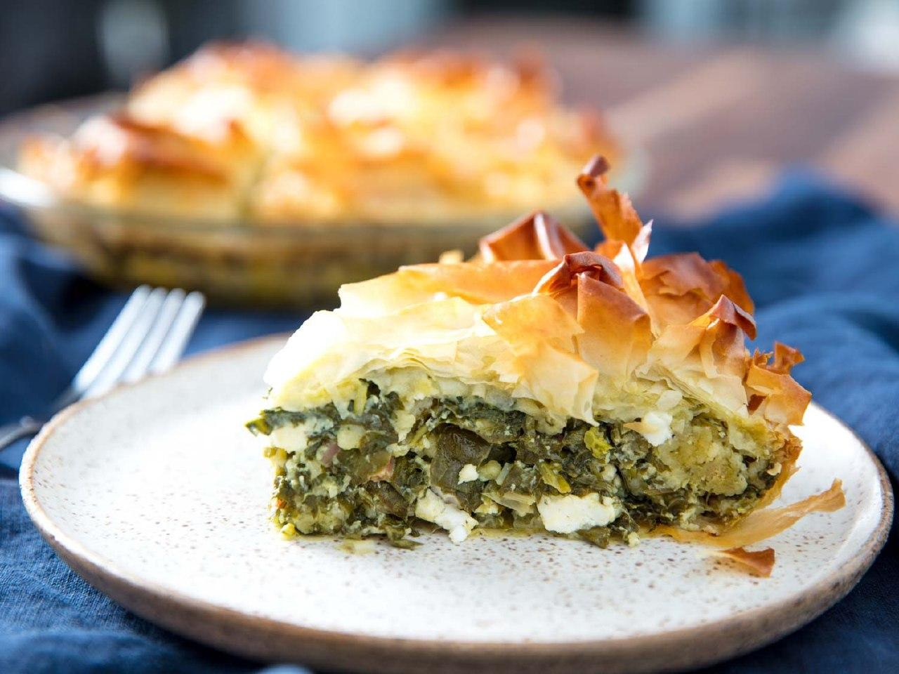 Греческий пирог спанакопита - рецепт от Кулинар Мастер