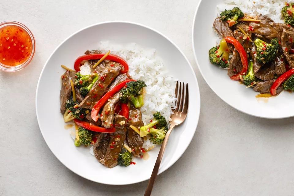 Тайская говядина с брокколи
