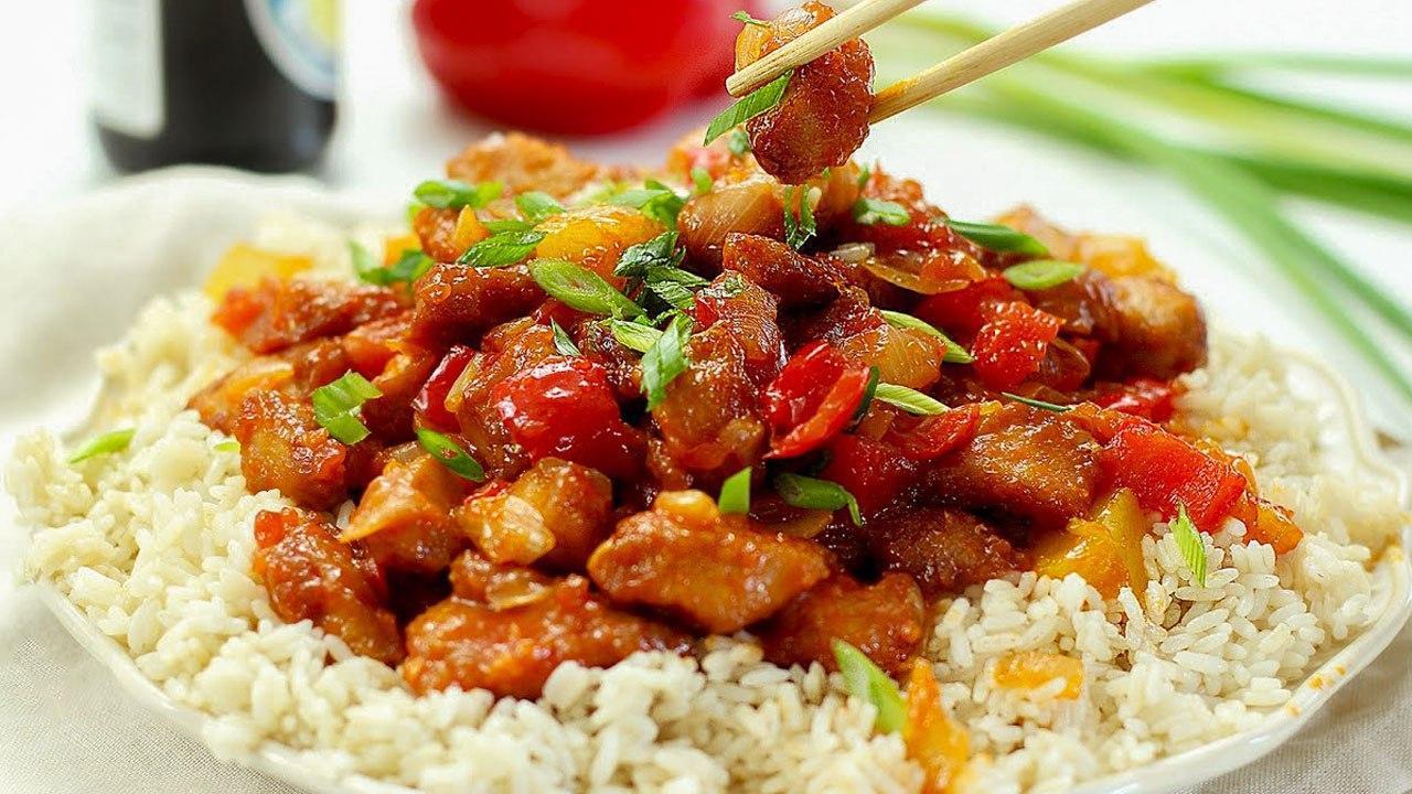 Курица в сладком соусе по-китайски